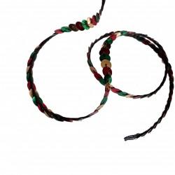 1 mètre de paillettes rouge, doré et vert sur fil à coudre bande brillante