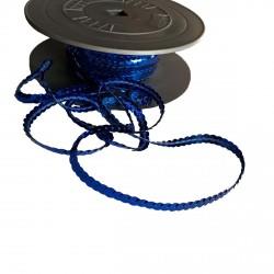 1 mètre de paillettes bleu roi sur fil à coudre bande brillante