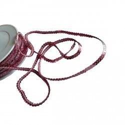 1 mètre de paillettes rose tendre sur fil à coudre bande brillante