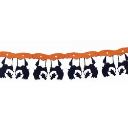 Guirlande de Sorcière sur son balai ignifugée 366 cm