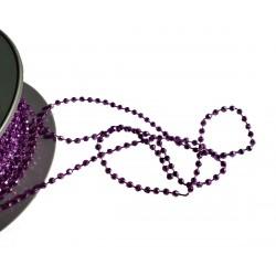 1 mètre perles à facettes viollettes soudées sur fil bleu 4 millimètres