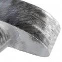 1 mètre de ruban lamé argenté 25 mm