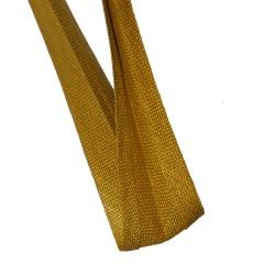 1 mètre de biais replié en lin ocre jaune