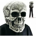 Grande tête de mort crâne géant polystyrène peint halloween