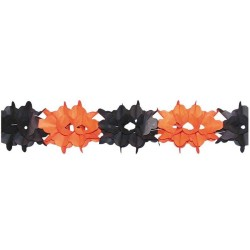 Guirlande orange et noire ignifugée 4 m