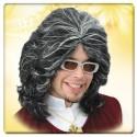Perruque disco Vlad Comte Dracula Vampire noire et blanche