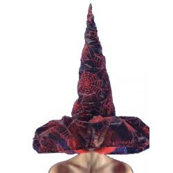 Chapeau de sorcière somptueux voilé 55 cm