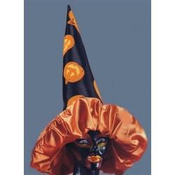 Chapeau de sorcière splendide avec ses citrouilles 50 cm