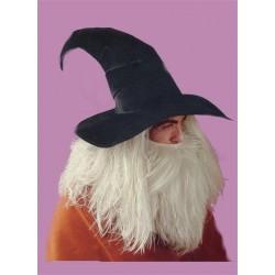 Chapeau noir de sorcier Magicien en tissu