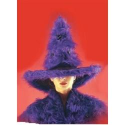 Chapeau de Sorcière en peluche violette