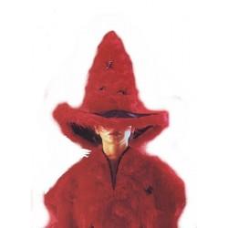 Chapeau de Sorcière en peluche rouge