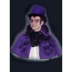 Cape vampire Comte Dracula Capeline élégante en peluche violette