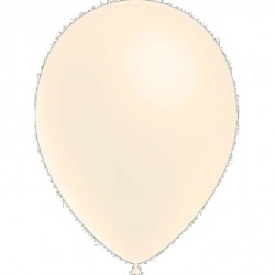 100 ballons de baudruche standard ivoire 30 cm Ø