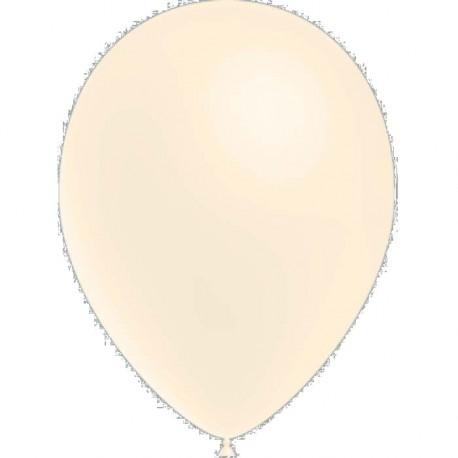 100 ballons de baudruche standard ivoire 30 centimètres de diamètre