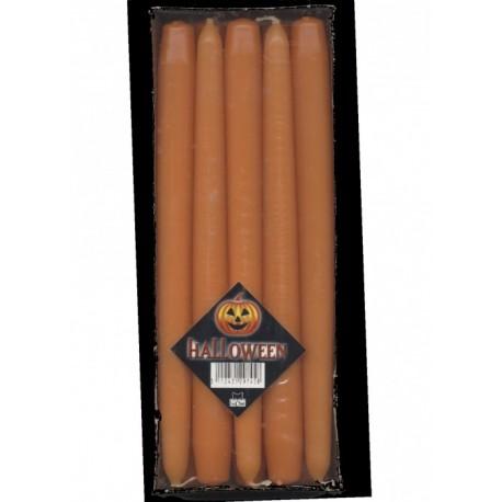 10-chandelles-bougies-flambeaux-orange