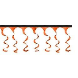 Guirlande Spirales orange métallique avec liseré araignée