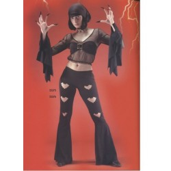 Ensemble disco Bat pantalon patdef noir taille L