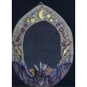 Décoration Halloween Miroir dragon violet