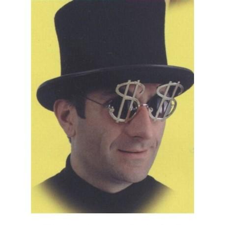 lunettes-dorees-en-forme-de-dollars