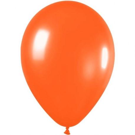 100 ballons de baudruche standard mandarine metal 29 centmètres de diamètre Halloween