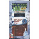Guirlande étanche électrique filet lucioles blanches animées 180