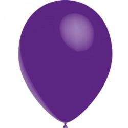 100 ballons de baudruche standard violet 30 centimètres de diamètre