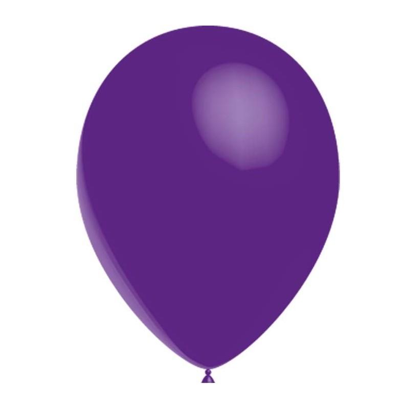 100 Ballons De Baudruche Standard Violet 30 Centimetres De Diametre