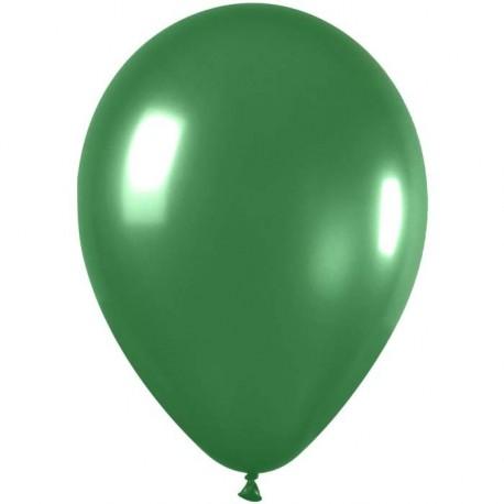 100 ballons de baudruche métal vert amande 29 centimètres de diamètre