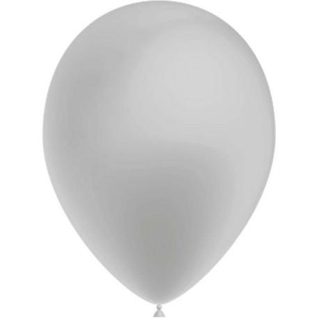 100 Ballons de Baudruche Métal Argent diamètre 27 centimètres de diamètre