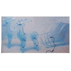 2 rennes + traîneau en cordon lumineux