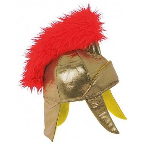 casque-de-romain-en-tissu-dore-avec-toupet-rouge