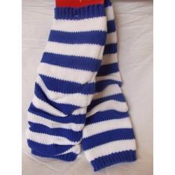 jambieres-guetres-bleues-et-blanches-en-tricot