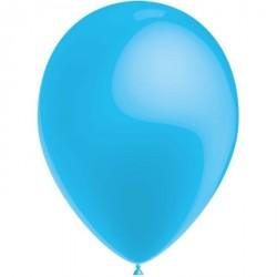 100 ballons de baudruche métal 30 cm Ø bleu ciel