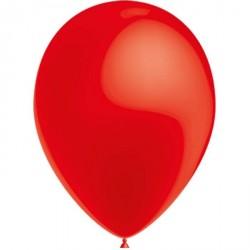 100 Ballons de Baudruche Métal Rouge 27 centimètres de diamètre