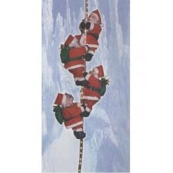 4 Pères Noël sur tube lumineux