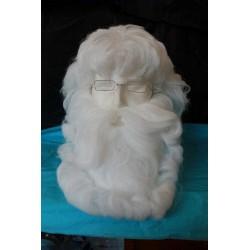 Perruque du Père Noël avec barbe blanche excellente qualité