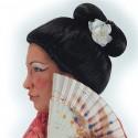 Perruque de Geisha japonaise perruque avec chignon