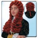 Perruque Louis XIV rousse auburn