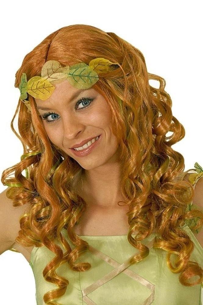 Perruque de fée d\u0027elfe ou de princesse rousse vert et jaune , Festi Fiesta