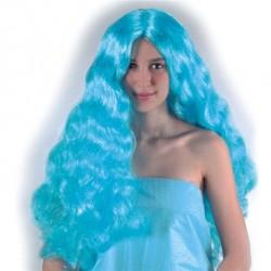 Perruque Celeste bleu turquoise