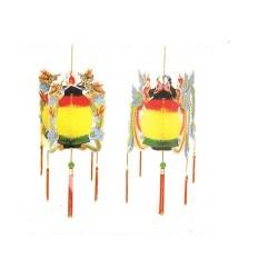2 lanternes chinoises nids d'abeilles