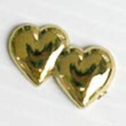 Petits cœurs dorés double cœurs