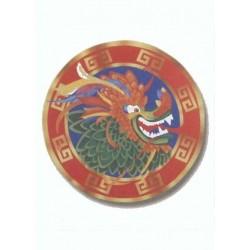 Découpe tête de dragon décoration à suspendre