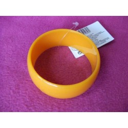 bracelet-orange-rond-disco-retro