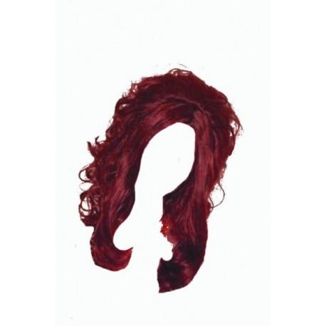 Perruque longue Mara acajou c'est un roux assez rouge