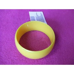 bracelet-jaune-rond-disco-retro