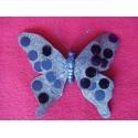 Papillon bleu à paillettes 16 cm