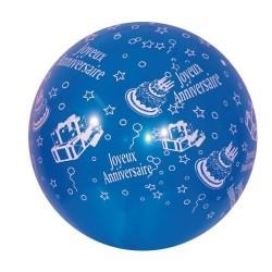 """3 ballons de baudruche """"Joyeux Anniversaire"""" 40 cm"""