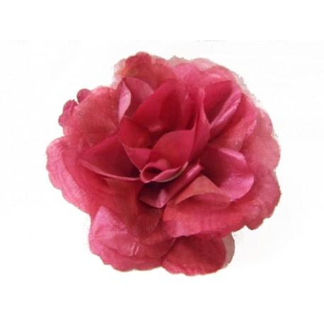 fleur pour cheveux ou broche rose bordeaux festi fiesta. Black Bedroom Furniture Sets. Home Design Ideas