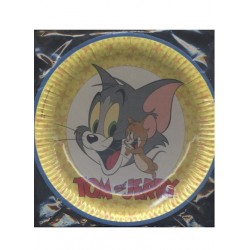 6 assiettes de Tom and Jerry Ø 23 cm en carton